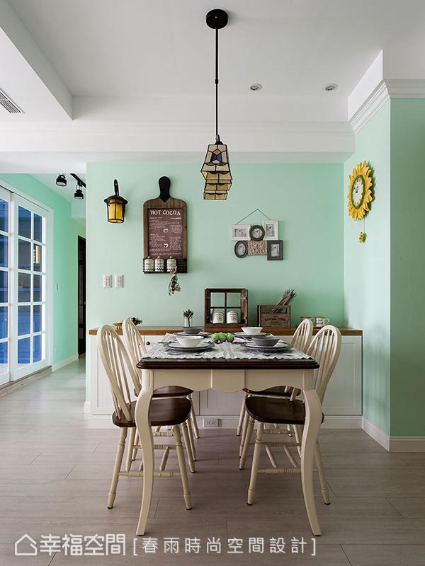 装修设计 装修风格 混搭 极简 餐厅图片来自幸福空间在83平,美式乡村风与极简工业风】的分享
