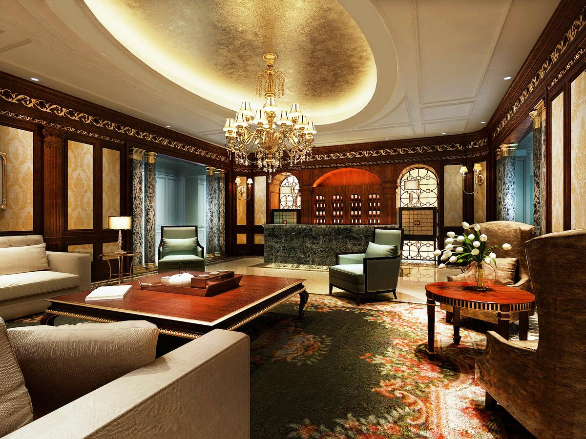 大豪山林 别墅装修 美式古典 腾龙设计 客厅图片来自腾龙设计在大豪山林760平别墅美式古典风格的分享