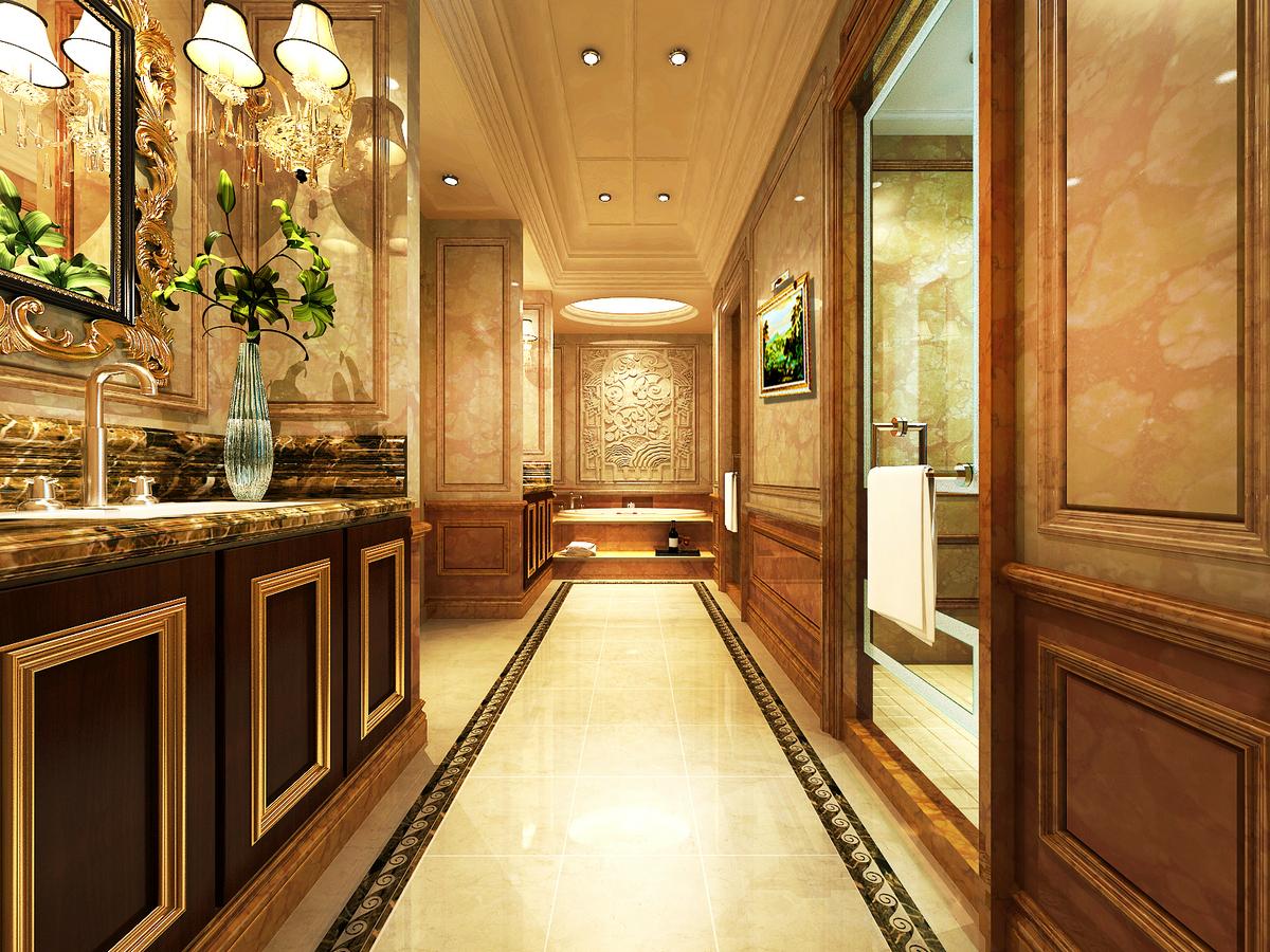 大豪山林 别墅装修 美式古典 腾龙设计 玄关图片来自腾龙设计在大豪山林760平别墅美式古典风格的分享