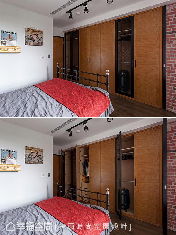 装修设计 装修风格 混搭 极简 卧室图片来自幸福空间在83平,美式乡村风与极简工业风】的分享