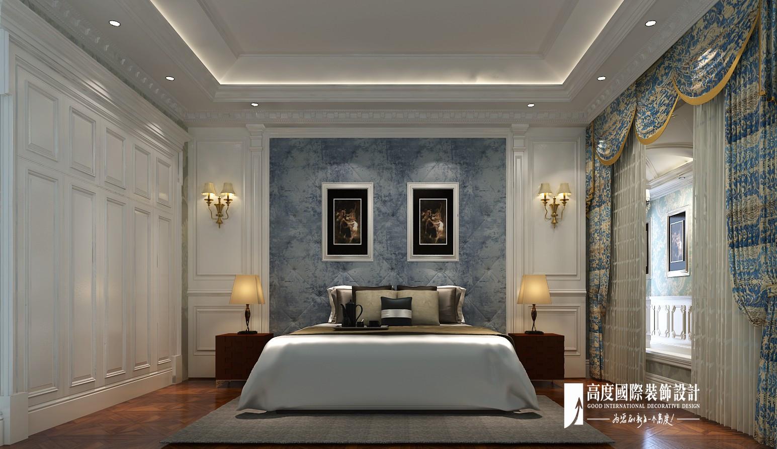 欧式 新古典 别墅 跃层 复式 大户型 80后 石上清泉 卧室图片来自高度国际姚吉智在石上清泉500平米欧式新古典时尚的分享
