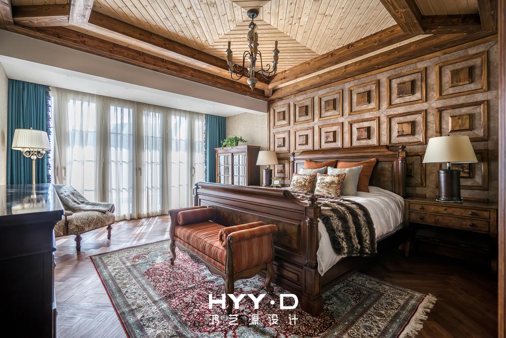 美式风格 别墅 别墅软装 主卧 卧室图片来自郑鸿在晴海一墅--万科东海岸室内设计的分享