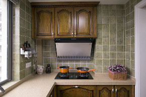 美式 田园 三居 大户型 跃层 复式 80后 小资 厨房图片来自高度国际姚吉智在156平米美式田园回味最初的美好的分享