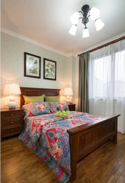 美式 田园 三居 大户型 跃层 复式 80后 小资 卧室图片来自高度国际姚吉智在156平米美式田园回味最初的美好的分享