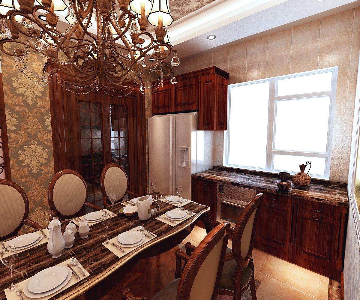 美式 别墅 餐厅图片来自百家装饰LL在阳光尚城200平美式风格的分享