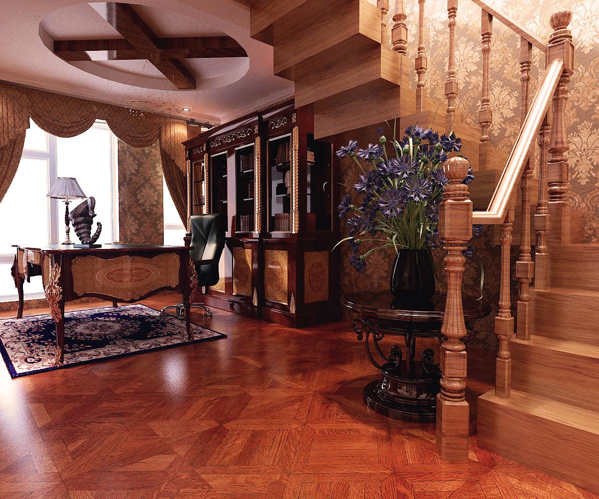 美式 别墅 客厅图片来自百家装饰LL在阳光尚城200平美式风格的分享