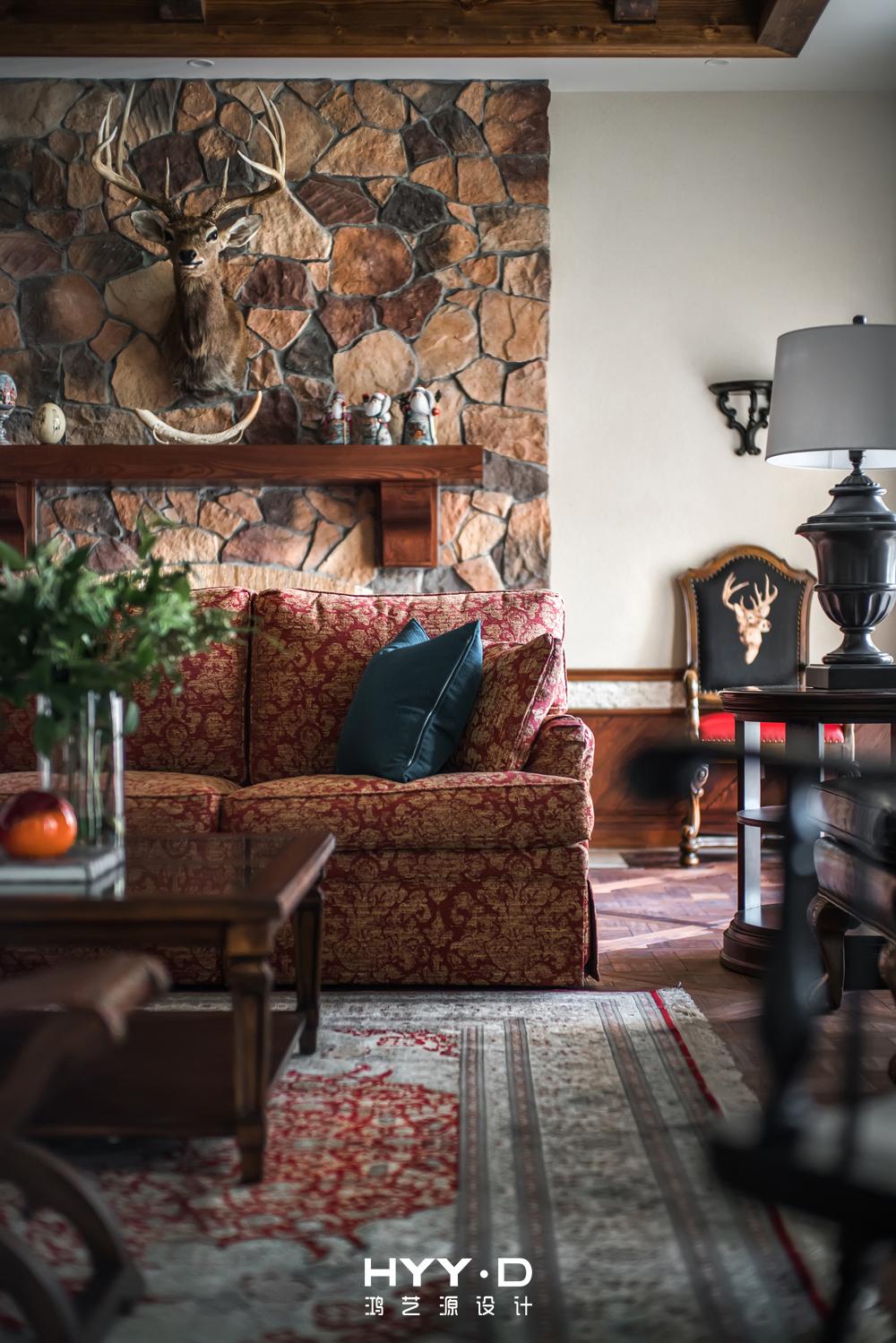 美式风格 别墅 别墅软装 客厅局部 客厅图片来自郑鸿在晴海一墅--万科东海岸室内设计的分享
