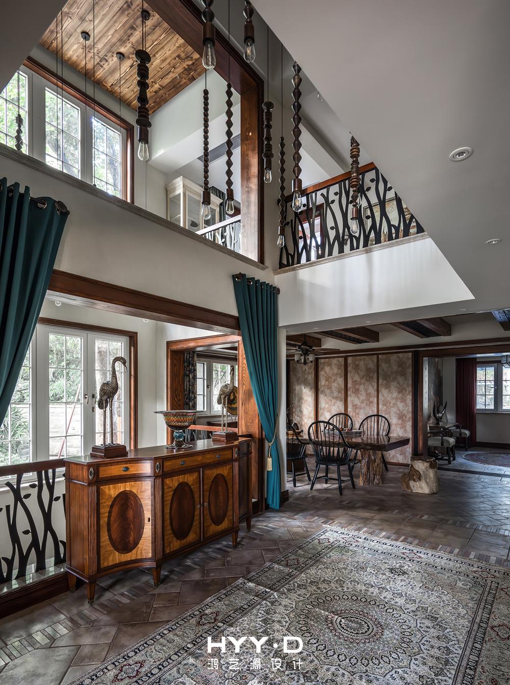 美式风格 别墅 别墅软装 过道 其他图片来自郑鸿在晴海一墅--万科东海岸室内设计的分享