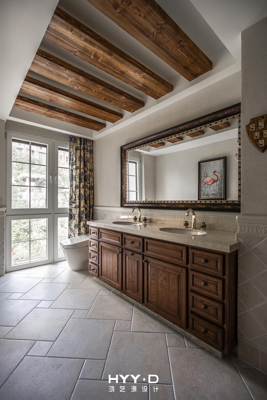 美式风格 别墅 别墅软装 主卫 卫生间图片来自郑鸿在晴海一墅--万科东海岸室内设计的分享