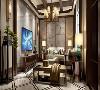 """在设计的过程中采用了""""人字梁""""结构进行装饰,墙面大面积采用亚麻墙纸及质感涂料,局部使用中式花鸟图进行点缀。空间上讲究层次,多用隔窗、屏风来分割,从而使中国风更加浓郁。"""