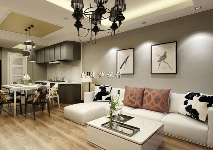 客厅图片来自百家装饰LL在佳兆业中心 79平现代阁楼的分享