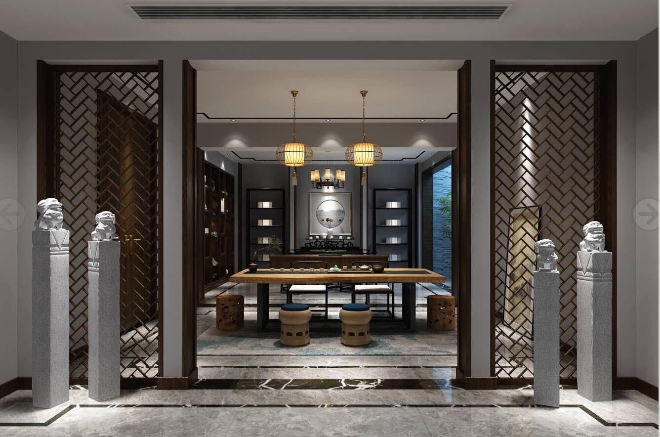 古涧堂 别墅装修 新中式风格 腾龙设计 客厅图片来自孔继民在青浦古涧堂别墅项目装修中式风格的分享