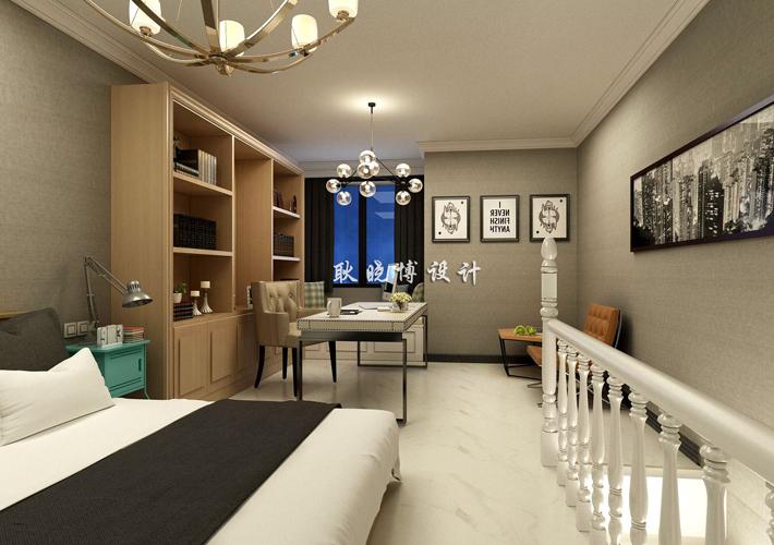 卧室图片来自百家装饰LL在佳兆业中心 79平现代阁楼的分享