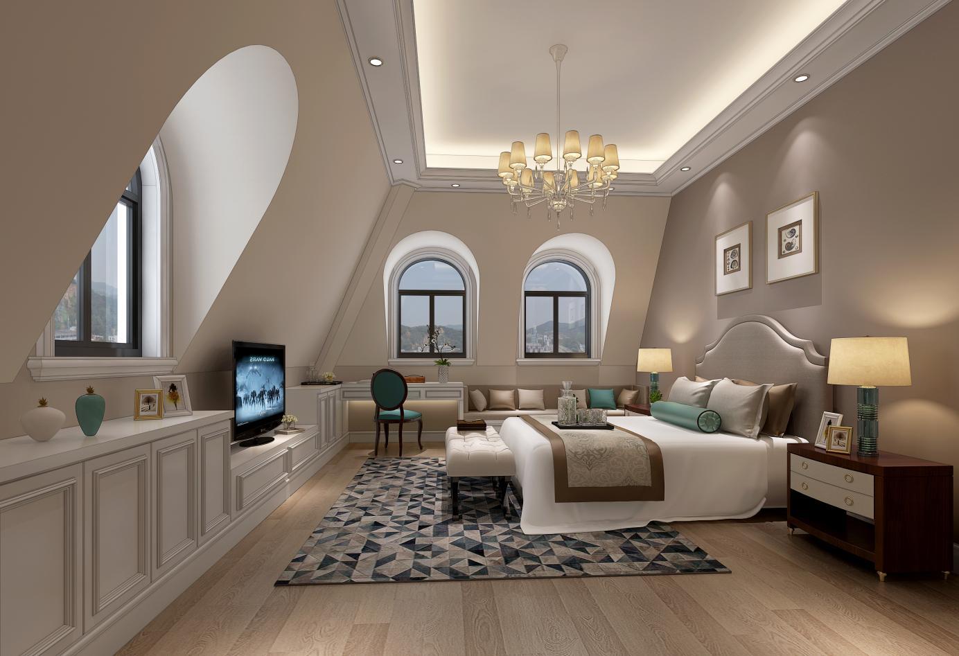 乔爱庄园 别墅装修 欧式风格 腾龙设计 卧室图片来自孔继民在乔爱庄园别墅装修欧式风格设计的分享