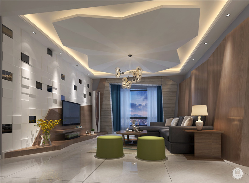 混搭 三居 收纳 80后 小资 客厅图片来自大业美家 家居装饰在后现代风格,装修界一朵奇葩的分享