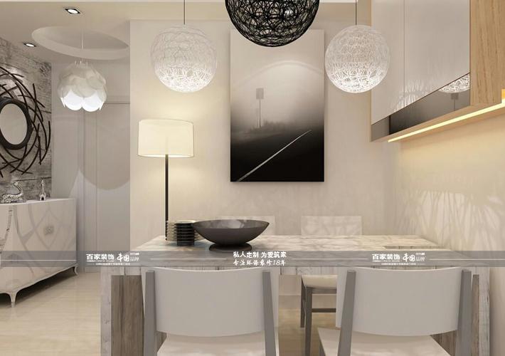 三居 宏发英里 现代风格 餐厅图片来自百家设计小刘在宏发英里100平现代风格半包4万的分享