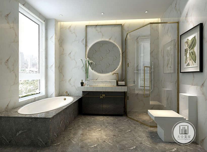 中式 新中式 别墅 设计 效果图 卫生间 卫生间图片来自大业美家 家居装饰在推荐:新中式的精髓黑白灰水墨的分享