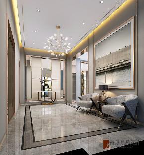 现代 别墅 大户型 跃层 复式 80后 小资 玄关图片来自高度国际姚吉智在金科天玺650平米现代轻奢别墅的分享