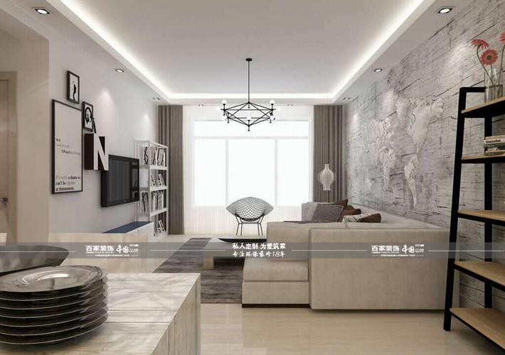 三居 宏发英里 现代风格 客厅图片来自百家设计小刘在宏发英里100平现代风格半包4万的分享