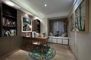 北欧 三居 大户型 复式 跃层 别墅 80后 小资 书房图片来自高度国际姚吉智在139平米北欧家居品味生活的情趣的分享
