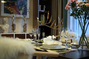 北欧 三居 大户型 复式 跃层 别墅 80后 小资 餐厅图片来自高度国际姚吉智在139平米北欧家居品味生活的情趣的分享