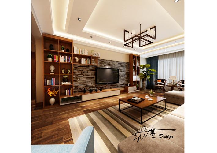 三居 御景新世界 现代风格 客厅图片来自百家设计小刘在御景新世界160平现代风格半包7万的分享