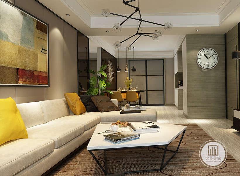 简约 三居 白领 收纳 小资 客厅图片来自大业美家 家居装饰在明快的线条展现现代简约家装设计的分享