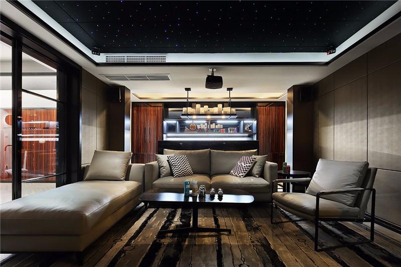 后现代 四居 成都 客厅图片来自成都二十四城装饰公司在灰色轨迹装修案例效果图的分享