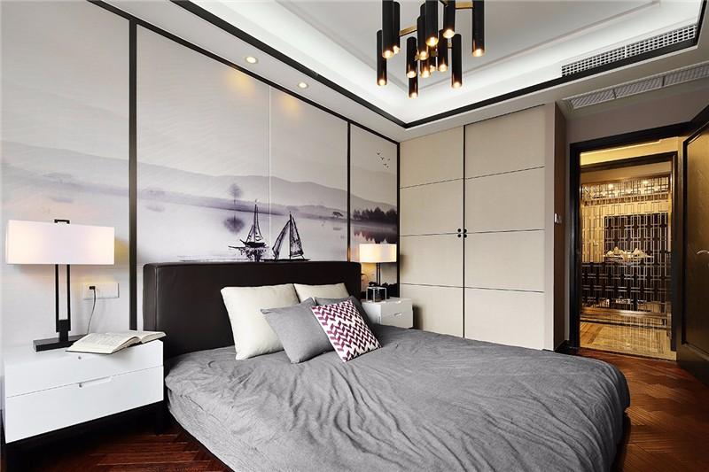 后现代 四居 成都 卧室图片来自成都二十四城装饰公司在灰色轨迹装修案例效果图的分享