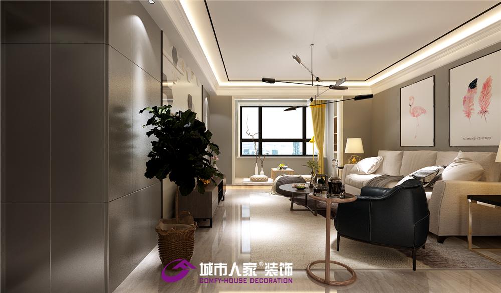 简约 银丰公馆 客厅图片来自济南城市人家装修公司-在银丰公馆装修效果图北欧风格案例的分享