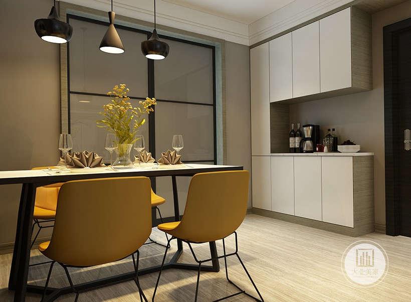 简约 三居 白领 收纳 小资 餐厅图片来自大业美家 家居装饰在明快的线条展现现代简约家装设计的分享