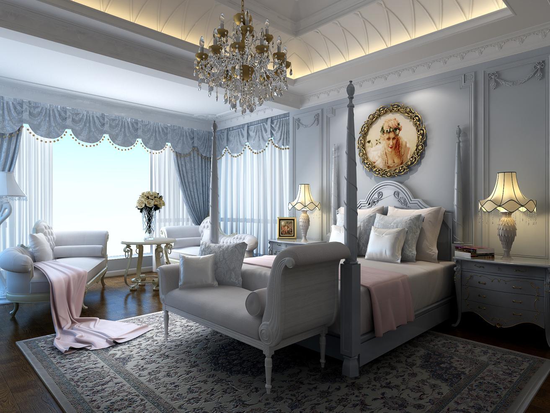 东郊罗兰 别墅装修 欧式风格 腾龙设计 刁振英作品 卧室图片来自孔继民在东郊罗兰别墅装修法式风格设计的分享