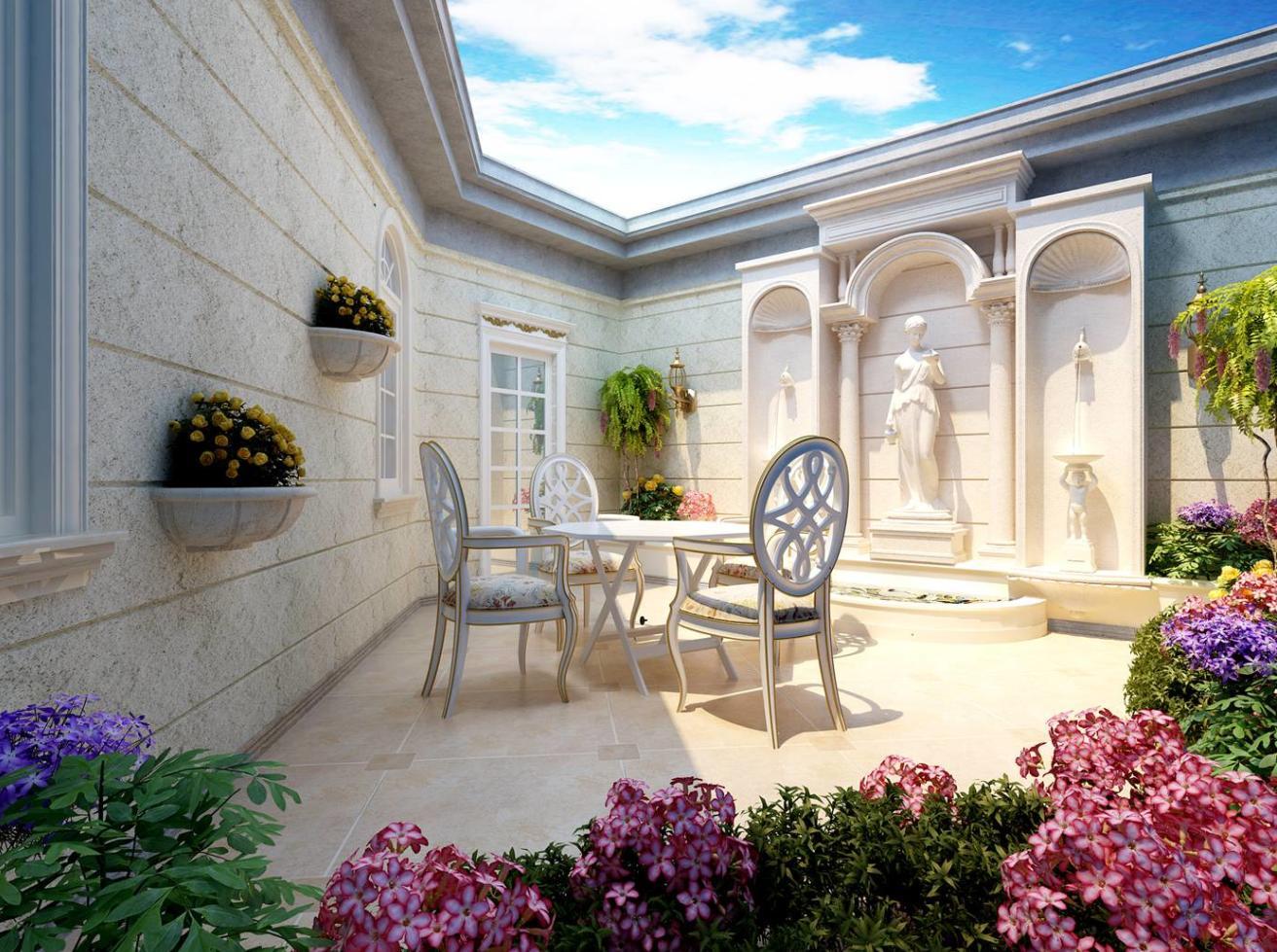 东郊罗兰 别墅装修 欧式风格 腾龙设计 刁振英作品 阳台图片来自孔继民在东郊罗兰别墅装修法式风格设计的分享