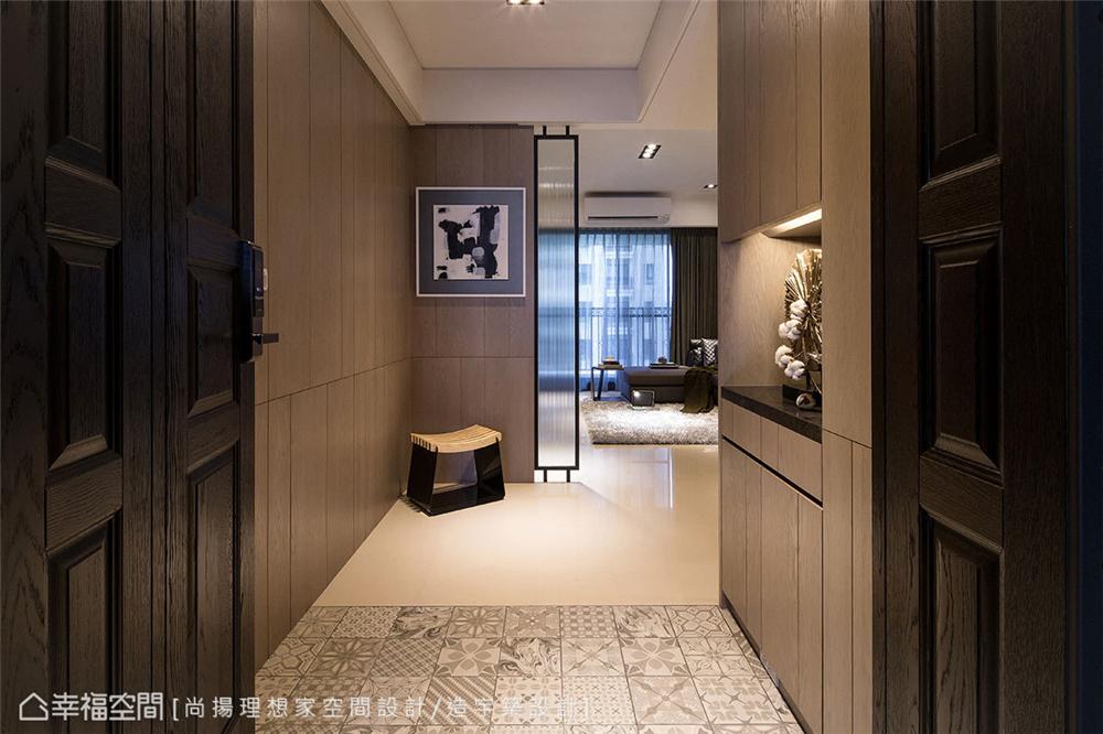 装修风格 装修设计 居家风格 现代简约 玄关图片来自幸福空间在99平,灰阶搭配木质元素的分享