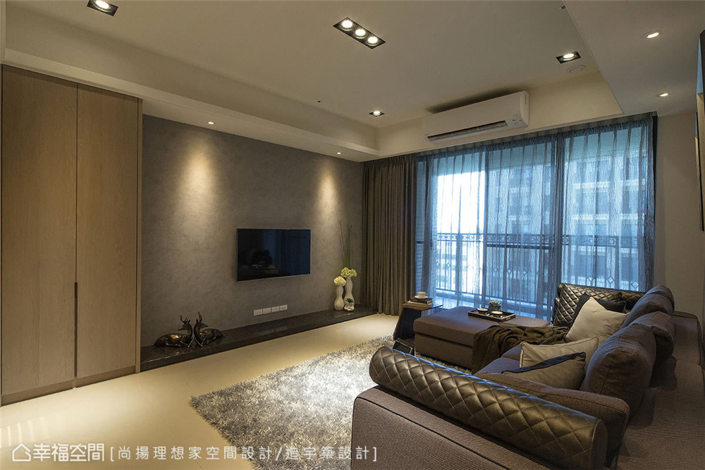 装修风格 装修设计 居家风格 现代简约 客厅图片来自幸福空间在99平,灰阶搭配木质元素的分享