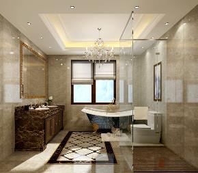 美式 别墅 跃层 复式 大户型 80后 金地中央世 卫生间图片来自高度国际姚吉智在金地中央世家750平米美式别墅的分享