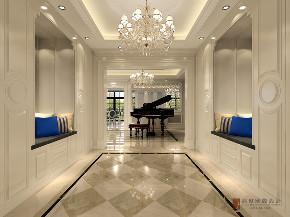 美式 别墅 跃层 复式 大户型 80后 金地中央世 玄关图片来自高度国际姚吉智在金地中央世家750平米美式别墅的分享