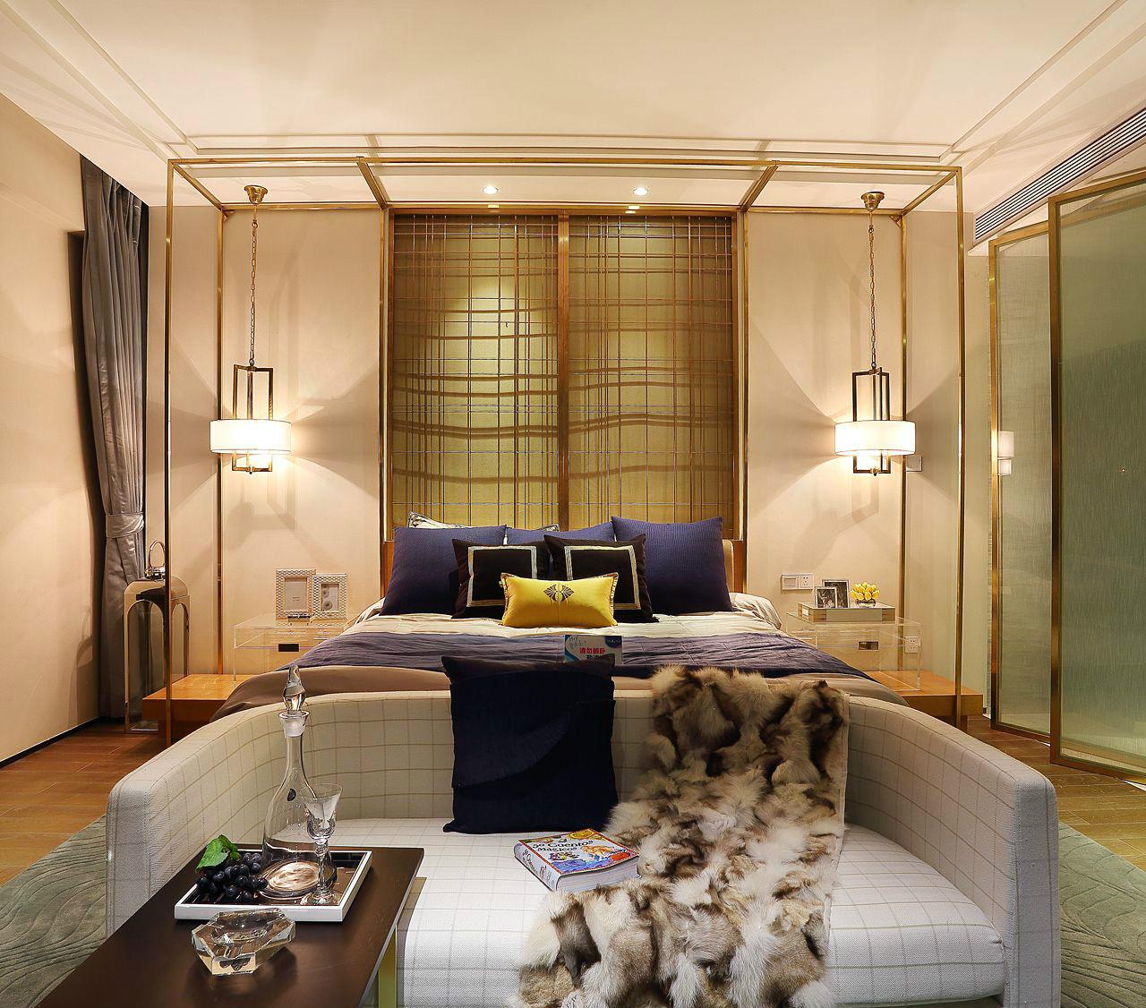 现代 简约 四居 大户型 复式 跃层 80后 小资 白领 卧室图片来自高度国际姚吉智在176平米现代简约生活的质感的分享