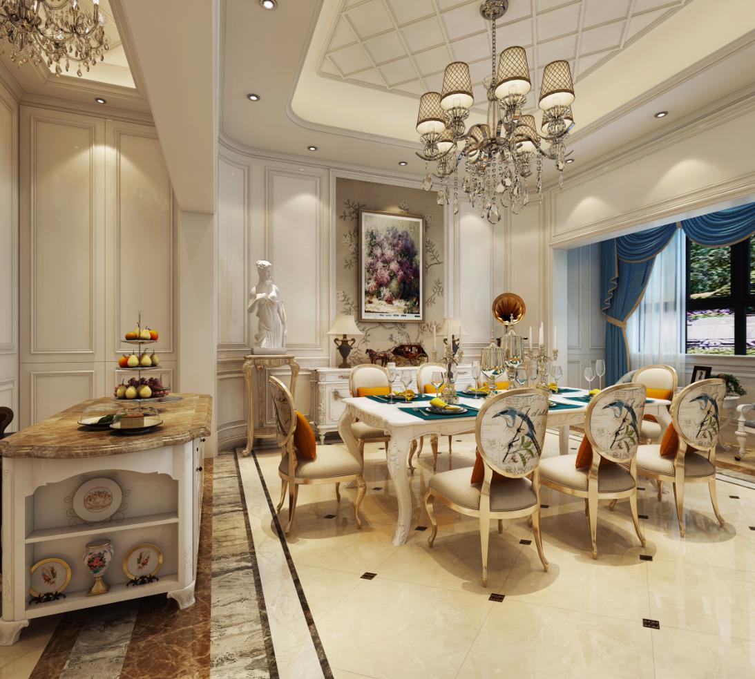 东郊罗兰 别墅装修 欧式古典 腾龙设计 刁振英作品 餐厅图片来自孔继民在东郊罗兰别墅装修新古典欧式风格的分享