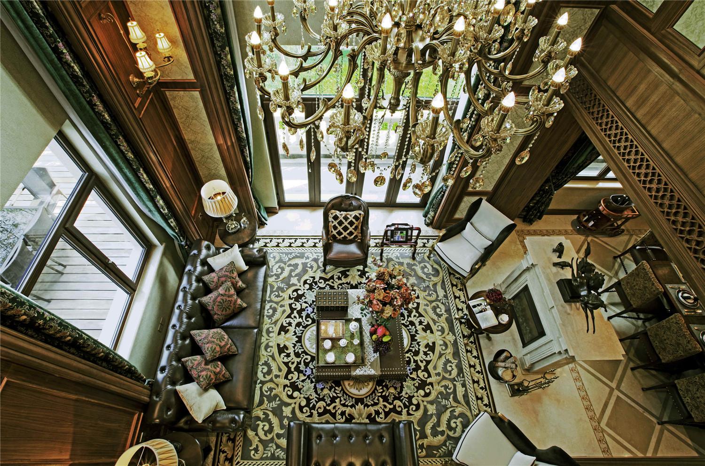 别墅装修 欧式古典 腾龙设计 美式风格 完工实景 客厅图片来自孔继民在欧式古典风格设计方案的分享
