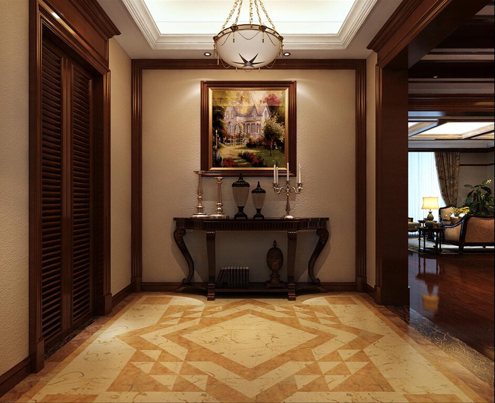 大华西郊 别墅装修 新中式风格 腾龙设计 玄关图片来自腾龙设计在大华西郊别墅项目装修新中式的分享