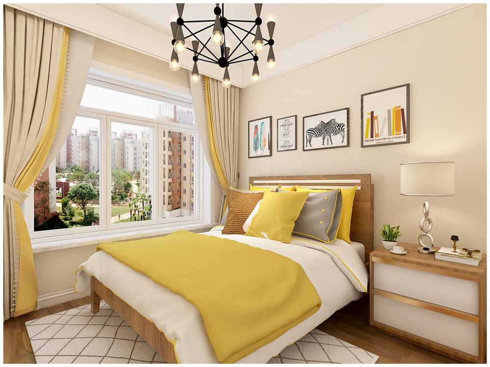 简约 三居 小资 卧室图片来自装家美在当代MOMA沿湖城102平米效果图的分享
