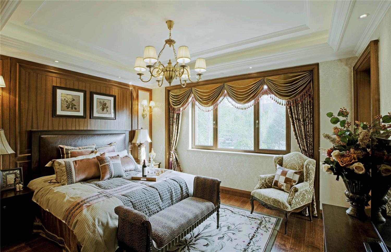 别墅装修 欧式古典 腾龙设计 美式风格 完工实景 卧室图片来自孔继民在欧式古典风格设计方案的分享