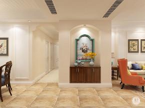 美式 玄关图片来自大业美家 家居装饰在保利拉菲172美式效果案例的分享