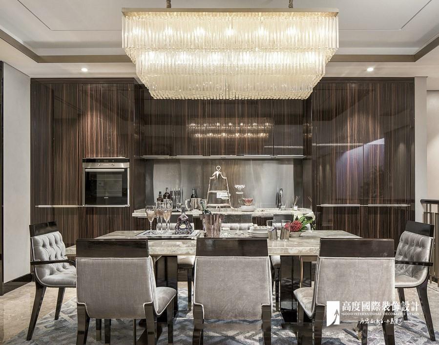 新古典 别墅 跃层 复式 大户型 80后 小资 餐厅图片来自高度国际姚吉智在远洋傲北365㎡亚洲新奢华风格的分享