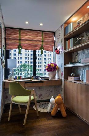 三居 中式 大户型 复式 跃层 别墅 80后 小资 书房图片来自高度国际姚吉智在追寻心中的光 150平米新中式的分享