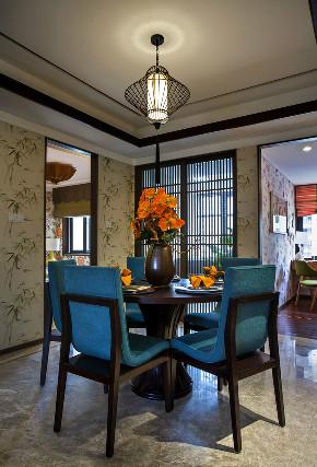三居 中式 大户型 复式 跃层 别墅 80后 小资 餐厅图片来自高度国际姚吉智在追寻心中的光 150平米新中式的分享