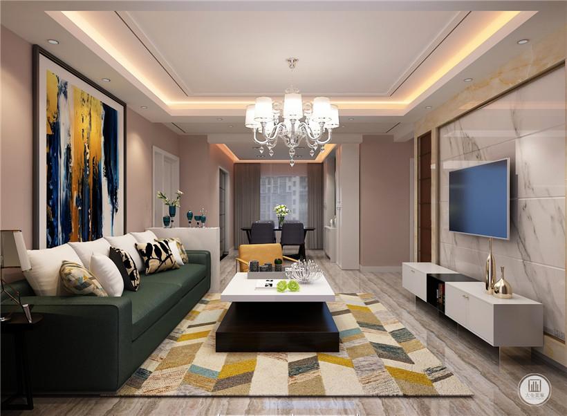 家装设计 大业美家 138平装修图片来自大珺17631160439在红石原墅138平现代简约的分享