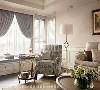 卧榻与单椅 女主人指定要求的卧榻,张馨团队以三等份来思考尺度较长的窗面设计。以白色木百叶搭配中间的垂坠式窗帘,营造出置身画框内的浪漫美感,是最疗愈身心的日光角落。