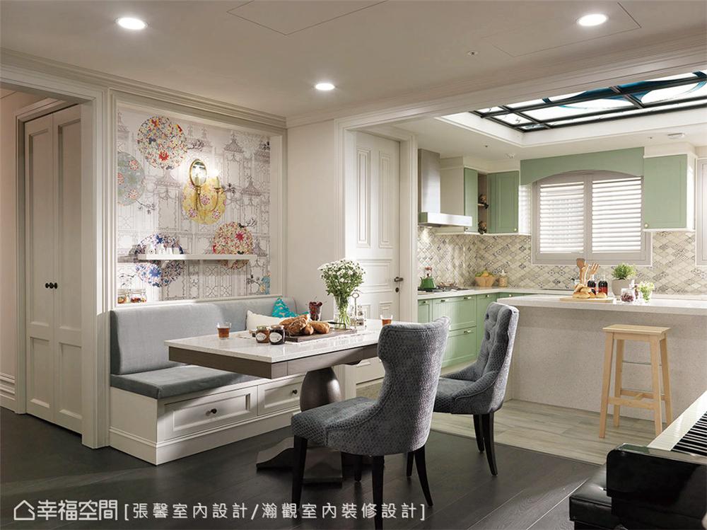 装修风格 室内设计 居家风格 美式风格 80后 小资 餐厅图片来自幸福空间在145平,美式织梦庄园-儿童房的分享